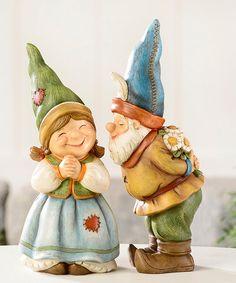 Look what I found on #zulily! Kissing Gnome Figurine Set #zulilyfinds