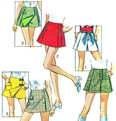 Skirt Pattern Kilt Pattern Simplicity 8698 Scooter by paneenjerez, $10.00
