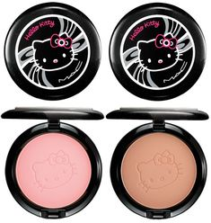 The left is a good color blush. At least closer to what I want than the coral color pin- definitely doesn't have to be hello kitty tho