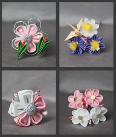 Mini Geisha Kanzashi by Vivcore via Flickr
