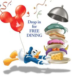 Disney Free Dining offer for  2016 Now Available!
