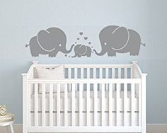 LUCKKYY®Cute Elephant Family Wall Decor Nursery baby Children Bedroom: Amazon.co.uk: Kitchen & Home
