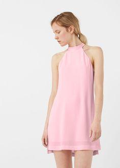 Halter neck dress -  Women | MANGO USA