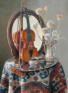 Натюрморт со скрипкой, автор Ашот Мурадян. Артклуб Gallerix