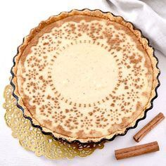 Melktert, Afrikaans for milk tart, is a proudly South African dessert that every one will love! Here are 4 delicious milk tart recipes. Tart Recipes, Pudding Recipes, Sweet Recipes, Baking Recipes, Custard Recipes, Baking Ideas, Milktart Recipe, Kos, No Bake Desserts
