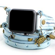Ocean Blue Apple Wrap Watch Band-38mm Apple Watch-42mm Apple Watch