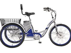 The eZip Tri-Ride electric trike. 3 Wheel Electric Bike, Electric Bike Review, Electric Tricycle, Tricycle Bike, Adult Tricycle, Trike Motorcycle, Three Wheel Bicycle, Bicycle Pictures, Urban Bike