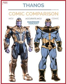 """2,702 Likes, 51 Comments - • Accurate.MCU • mcu fanpage (@accurate.mcu) on Instagram: """"• THANOS - COMIC COMPARISON • I honestly can't wait to see Thanos in action. His MCU design looks…"""""""