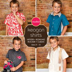 KEAGAN Boy Shirts by MODKID   Sewing Patterns   YouCanMakeThis.com