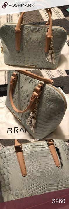 Brahmin dome satchel bag New Brahmin medium dome satchel bag. Leather sea glass croco bag Brahmin Bags Satchels