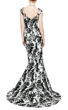 Oscar de la Renta silk jacquard gown
