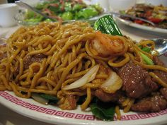 Chow Mein is a common food in Guyana and the best I've ever eaten.