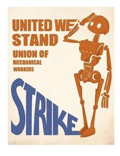 Union of Mechanical Workers STRIKE - 8.5 X 11 PRINT by Industrial Fairytale