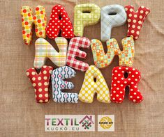 Happy New Year Images, Textiles, Holiday Decor, Free Downloads, Check, Self, Fabrics, Textile Art