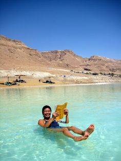 floating at dead sea