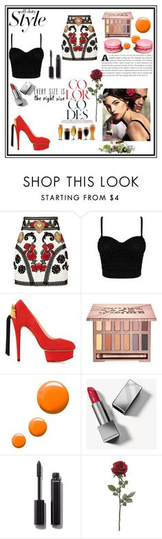 """""""Show off your  style x"""" by xpinkplaymatex ❤ liked on Polyvore featuring Dolce&Gabbana, Charlotte Olympia, Urban Decay, Topshop, Burberry and Chanel"""