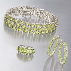 The legend and lore of peridot jewelry is as intriguing as this August birthstone's vivid lime-green color. Peridot jewelry dates back thousands of years—to when Cleopatra's beloved emerald jewels were actually a deep green peridot found in Egyptian mines, historians say. >>Click on the Peridot Jewelry to see more styles at Ross-Simons.