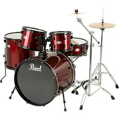 Pearl Soundcheck 5Piece Drum Set with Zildjian Cymbals RedBlack *** Read more  at the image link.Note:It is affiliate link to Amazon.