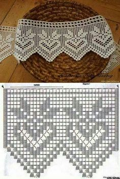 Puntilla vertical  Filet crochet