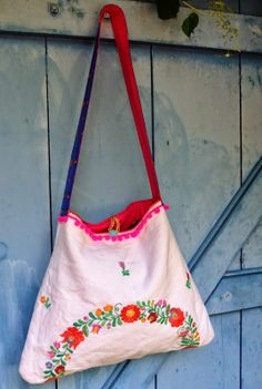 Handtasche aus Tischdecke / Bag made from tablecloth / Upcycling