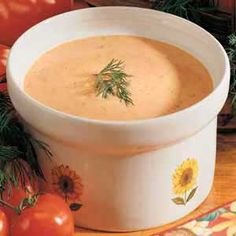 Tomato Dill Soup- I've had it once before and it was amazing, have to try this recipe and see if its the same