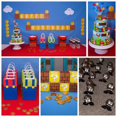 Super Mario Bros birthday party! See more party planning ideas at CatchMyParty.com!