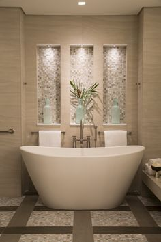 Shalala leaves the PureScape vessel tub from Aquatica to her nieces and their luxurious bubble baths amidst a spa-like serenity. Modern Bathroom Design, Bathroom Interior Design, Bathroom Designs, Spa Master Bathroom, Bathroom Ideas, Master Bedroom, Bath Ideas, Bathroom Grey, Bathroom Showers