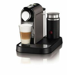 Nespresso C121-US4-TI-NE1 Espresso Maker with Aeroccino Milk Frother, Titan - http://nespressoshop.net/nespresso-c121-us4-ti-ne1-espresso-maker-with-aeroccino-milk-frother-titan