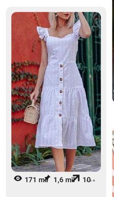 Começou o roubo! Stylish Dresses, Simple Dresses, Cute Dresses, Casual Dresses, Modest Outfits, Dress Outfits, Fashion Dresses, Classy Dress, Cotton Dresses