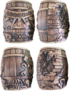 Cask of Amontillado Barrel Tiki Mug, Series 1 open edition - matte brown