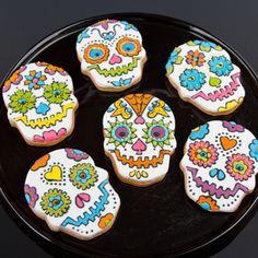 Sugar Skull Cookies, jaaa voor mijn nieuwe uitsteker uit de USA