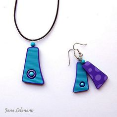 Set | polymer clay - the purple side is the back side of all… | Flickr