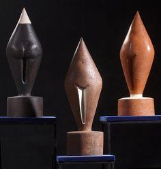 "Iwona Jurkiewicz ""PUPETKI"" ceramics (60x20x20 cm) 2013"
