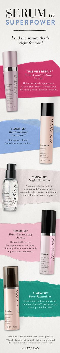 We're serious about serums! From age-fighters to skin-brighteners, get the products just right for your skin type. | Mary Kay