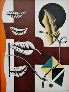 Fernand Leger - Leaves and Shell, 1927 at Tate Modern Art Gallery London England