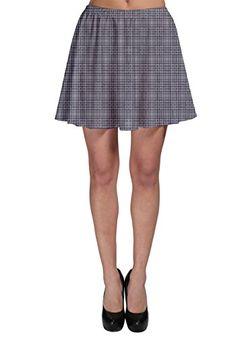 77402fb227 CowCow Womens Gray Tartan Skater Skirt