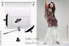 Learning to shoot with studio lighting can be difficult. Diagrams like this one, especially when shown next to the shot it represents, are extremely helpful in learning different techniques.