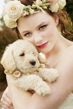 #puppyflowergirl