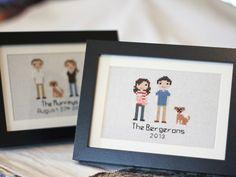 $144 Custom Cross-Stitch Family Portrait from Stitch People