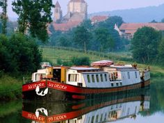 by River Barge Barge Boat, Canal Barge, Canal Boat, Boat Wallpaper, Water House, Boat House, France Country, Dutch Barge, Viajes