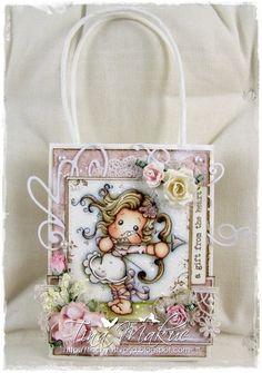 OOAK Magnolia Tilda Gift Bag Sagittarius by TinchyUstvarja on Etsy