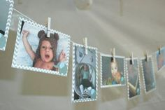 Julian's First Year: Magdalena made a garland featuring 12 photos of Julian, one for each month of the first year of his life. Source: Oh So Chic Celebrations