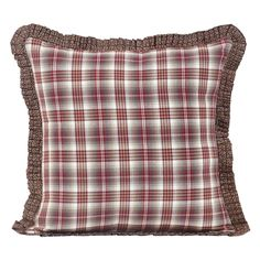 Tacoma Filled Pillow Fabric Ruffled 16x16