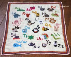 Crochet Animal Alphabet Afghan - Repeat Crafter Me C2c Crochet, Manta Crochet, Crochet Blanket Patterns, Baby Blanket Crochet, Free Crochet, Crochet Afghans, Crochet Blankets, Baby Patterns, Crochet Toys
