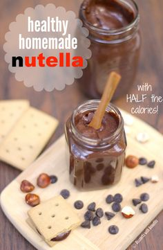 Healthy Homemade Nutella sugar free low fat low calorie gluten free dairy free vegan Healthy Dessert Recipes at Desserts with Benefits Brownie Desserts, Oreo Dessert, Mini Desserts, Coconut Dessert, Coconut Milk, Homemade Desserts, Healthy Vegan Desserts, Vegan Sweets, Low Carb Desserts
