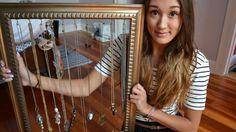 DIY Apartment Decor: Jewelry Holder Frame | desire & inspire