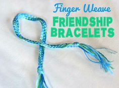 DIY Crafts | Looking for a boredom buster for your kiddos this summer? These finger weave friendship bracelets are the simplest and fastest to make. Parents will love making them too!