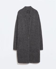 Image 7 of KNIT COAT from Zara