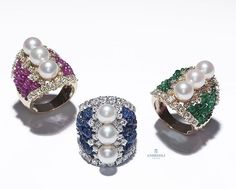 Andreoli. #AndreoliDesign #Rings #Ruby #Sapphire #Emerald #Beads #Pearls…