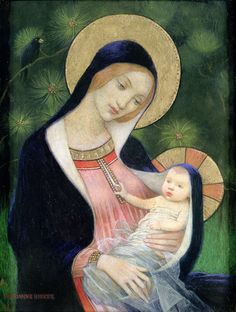 Marianne Stokes (1855 – 1927) Madonna of the fir tree http://www.todayscatholicnews.org/wp-content/uploads/2013/12/43christmasart1662.jpg